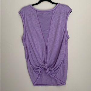Zella purple muscle tank tie back